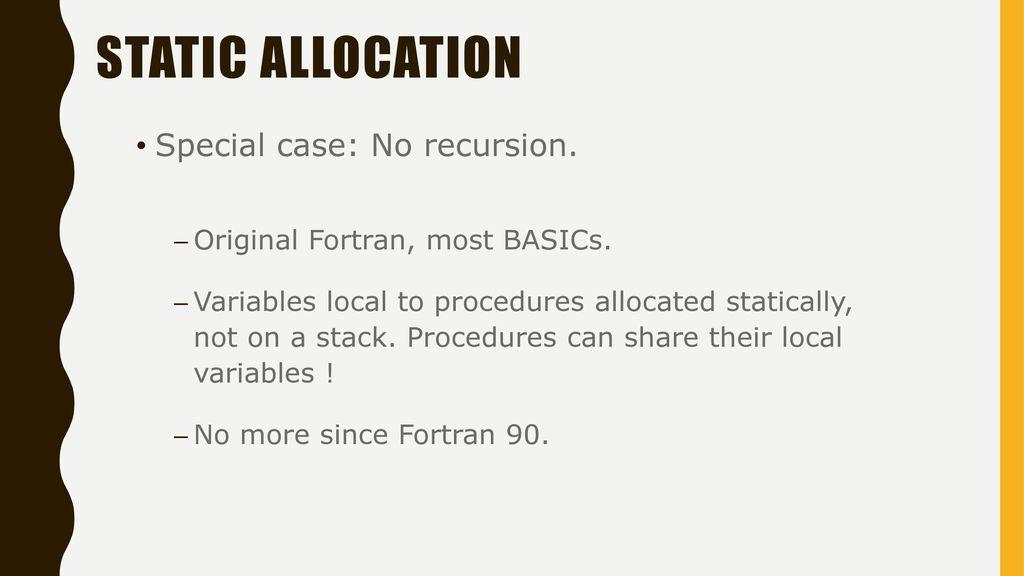Storage Allocation Mechanisms Ppt Download