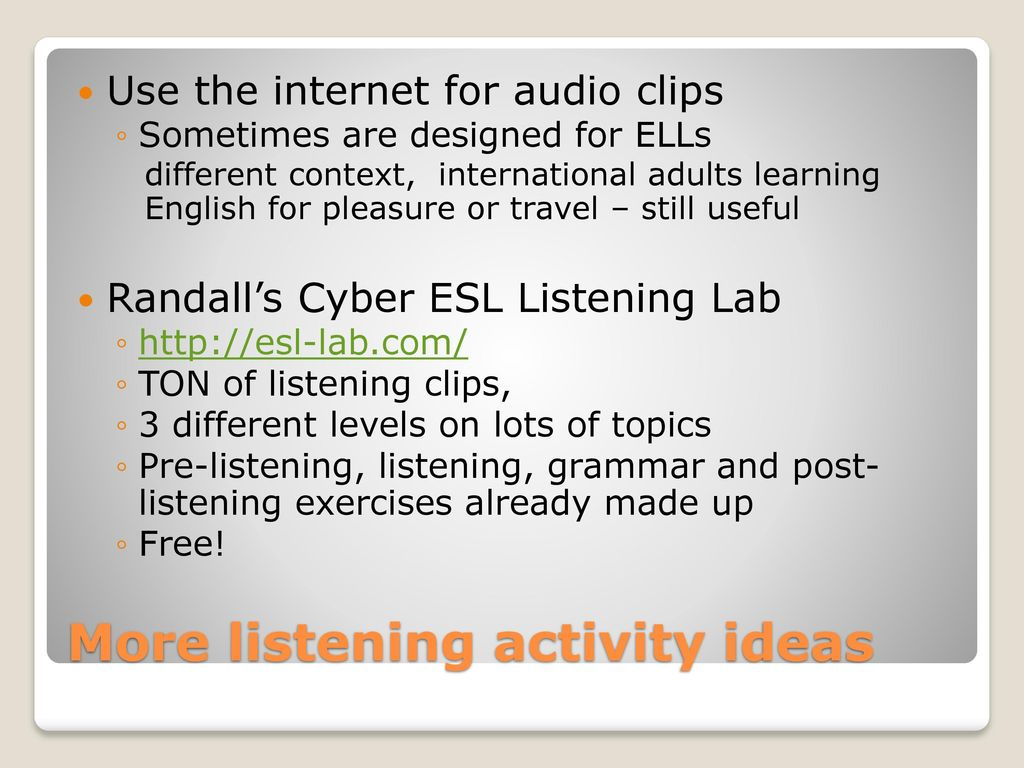 Listening: Theory and Practice - ppt download