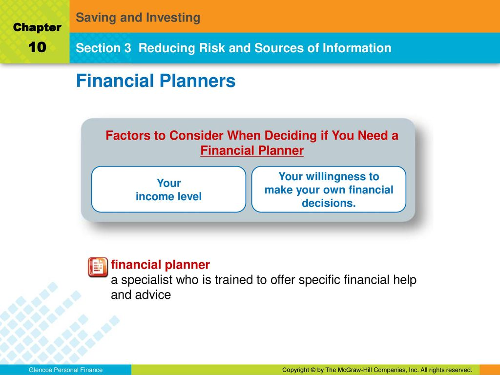 saving and investing chapter 10 what research and planning can you