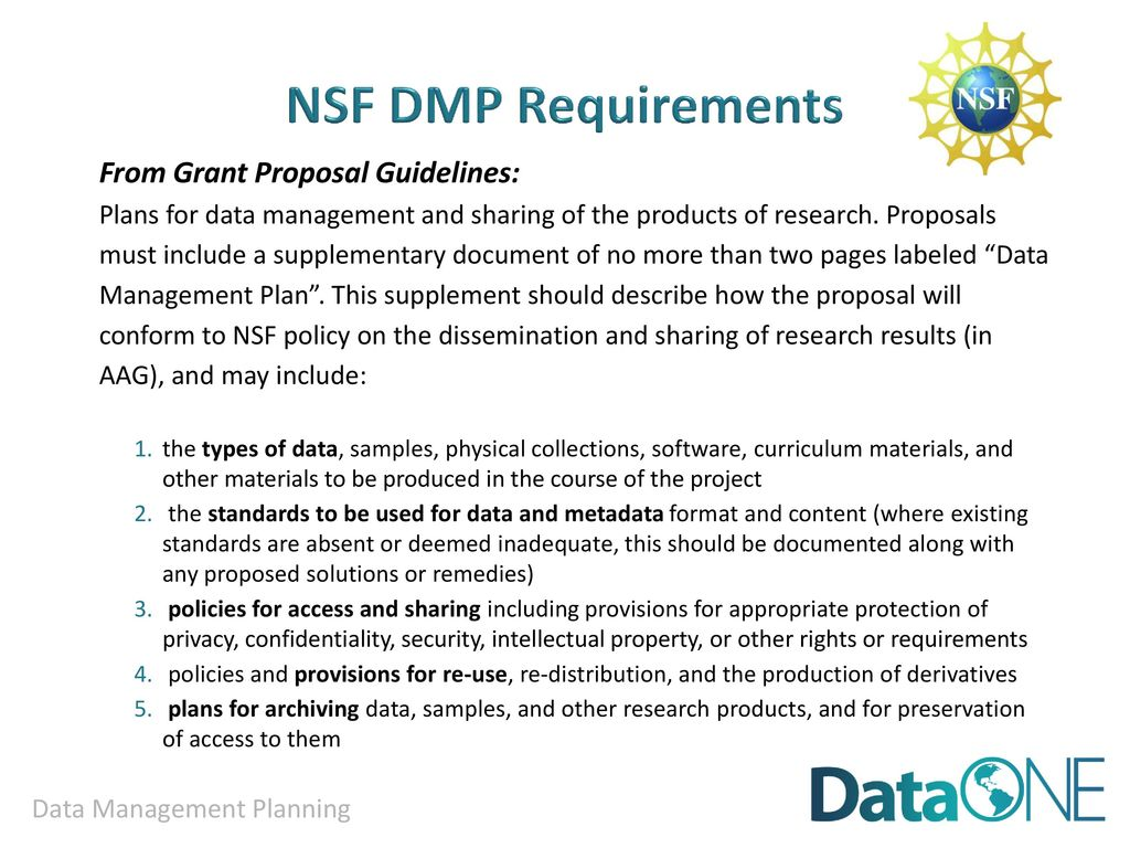 Lesson Topics What is a data management plan (DMP)? Why prepare a ...