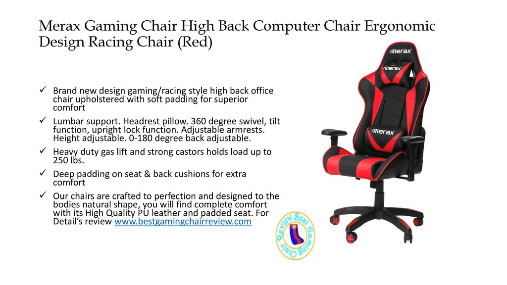 For More Review Guide Merax Gaming Chair High Back Computer Chair
