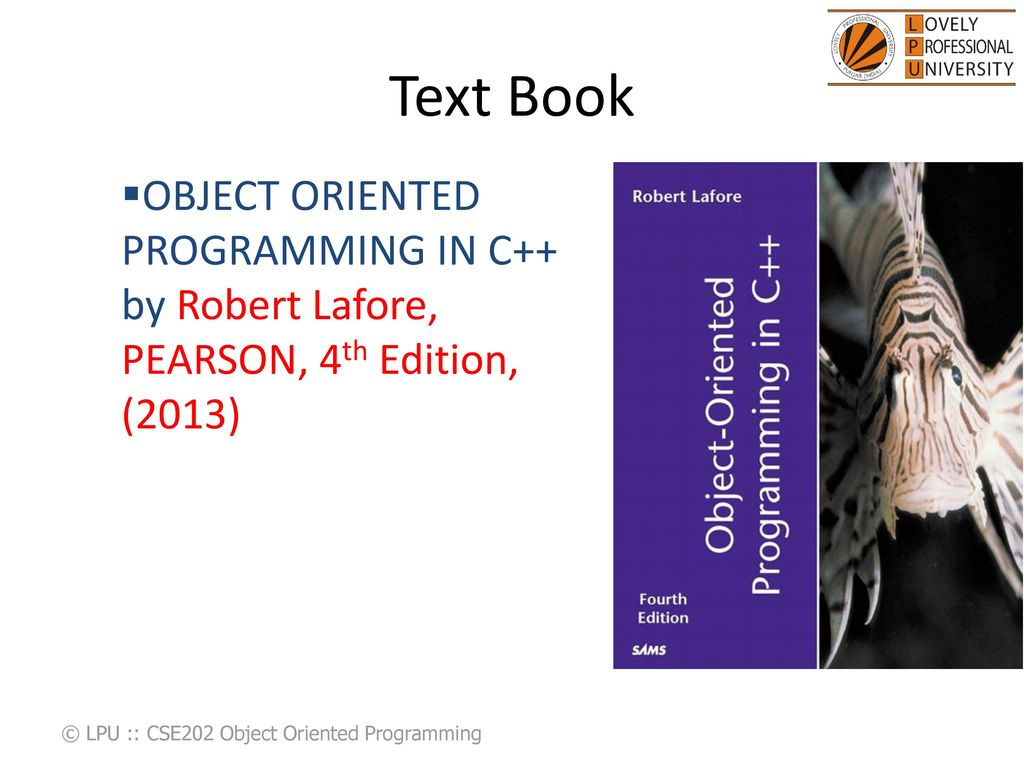 CSE202 Object Oriented Programing - ppt download