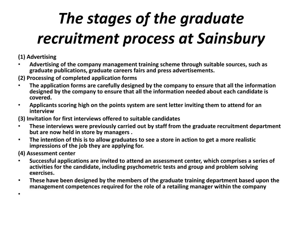 stages of recruitment and selection A bbc bitesize secondary school revision resource for higher business management on human resource management: recruitment and selection.