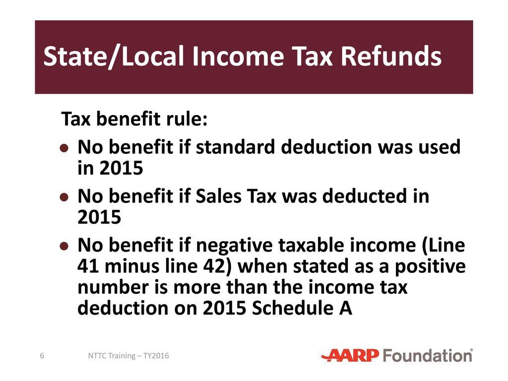 state/local income tax refunds - ppt download