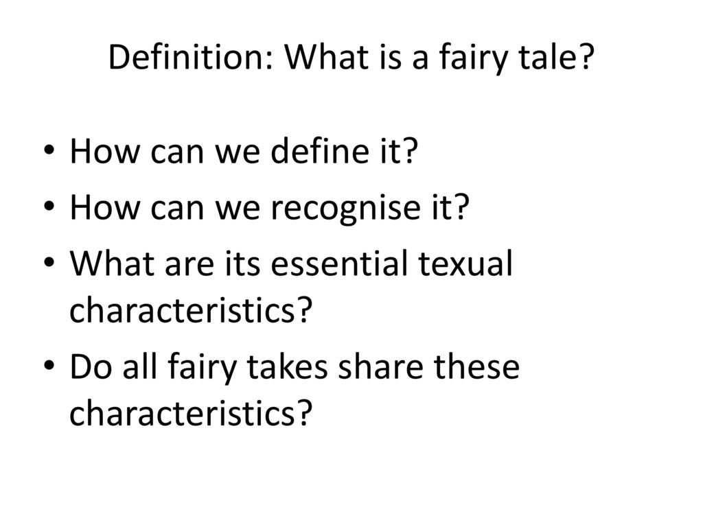 What is a fairy tale
