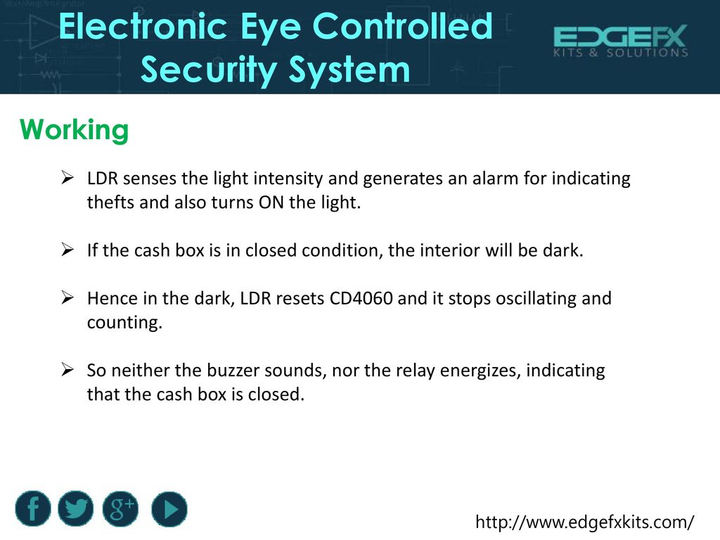 Electronic Eye Controlled Security System Ppt Download Dark Light Activated Relay 11