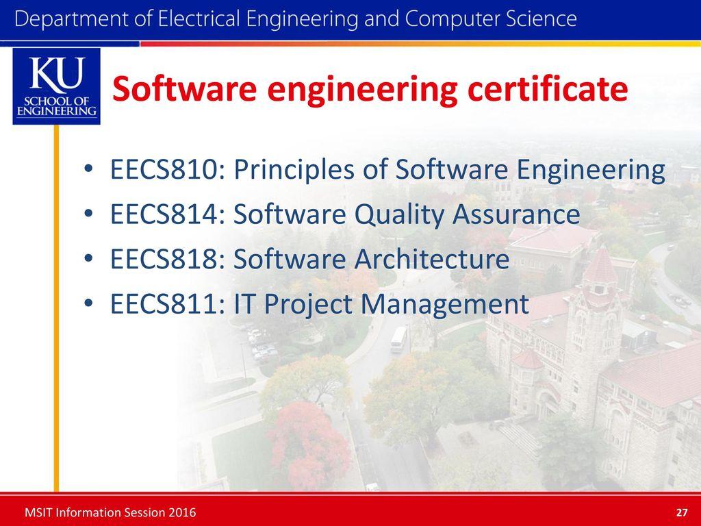 Welcome The Ku Eecs Graduate It Programs Ppt Download