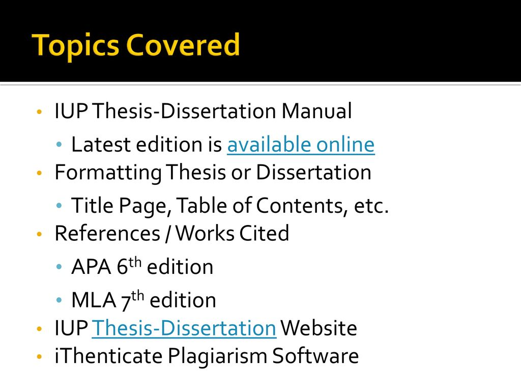apa 6th edition reference for dissertation The earlier (5th) edition of apa formats this differently see 5th vs 6th for details the publication location follows the same rules as cities of publication for books.