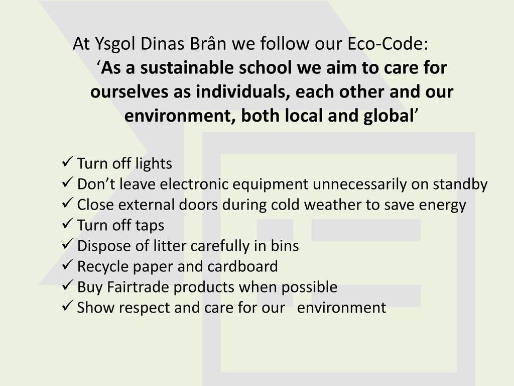 how do you show respect for the environment
