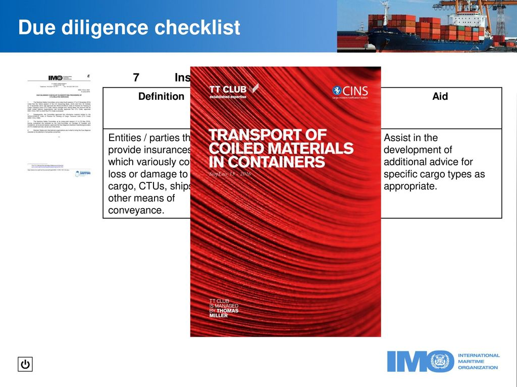 due diligence checklist - ppt download