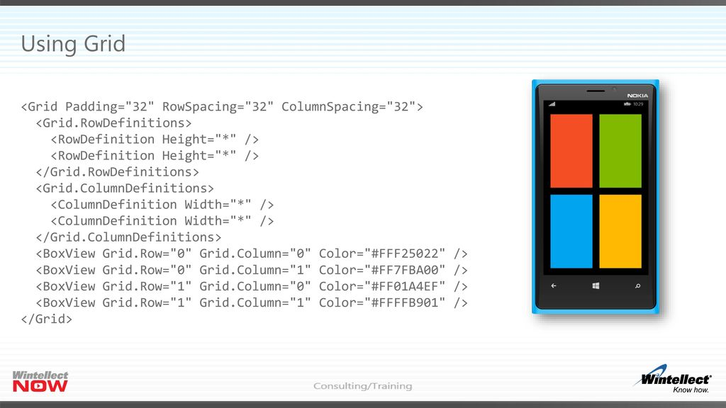 Xamarin Forms Grid Row Height