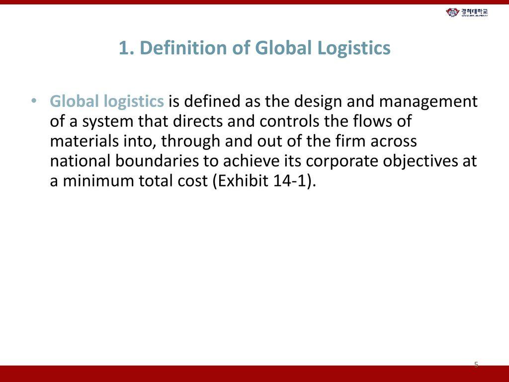 14. global logistics and distribution - ppt download