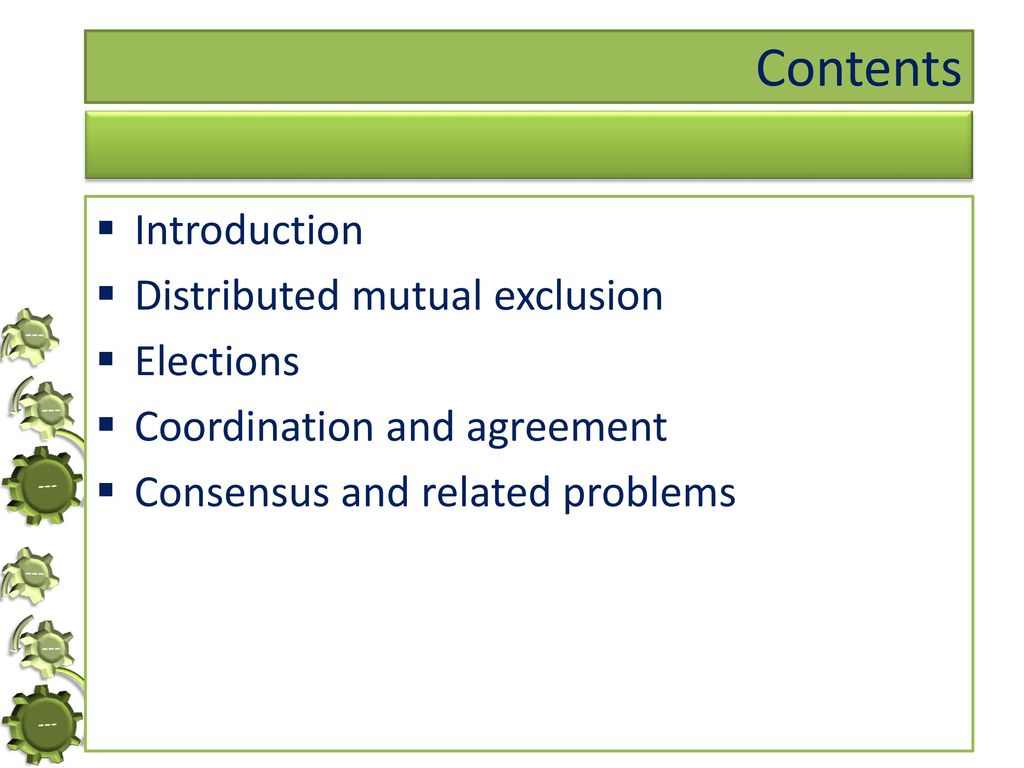 Coordination And Agreement Ppt Download