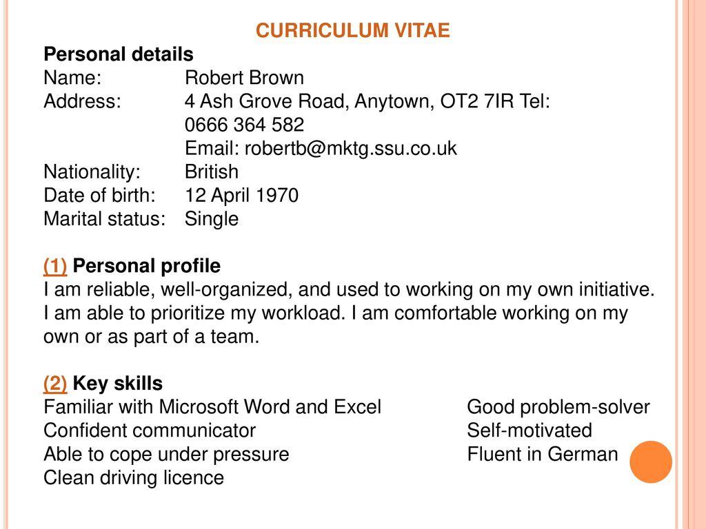Cv Resume Ppt Download