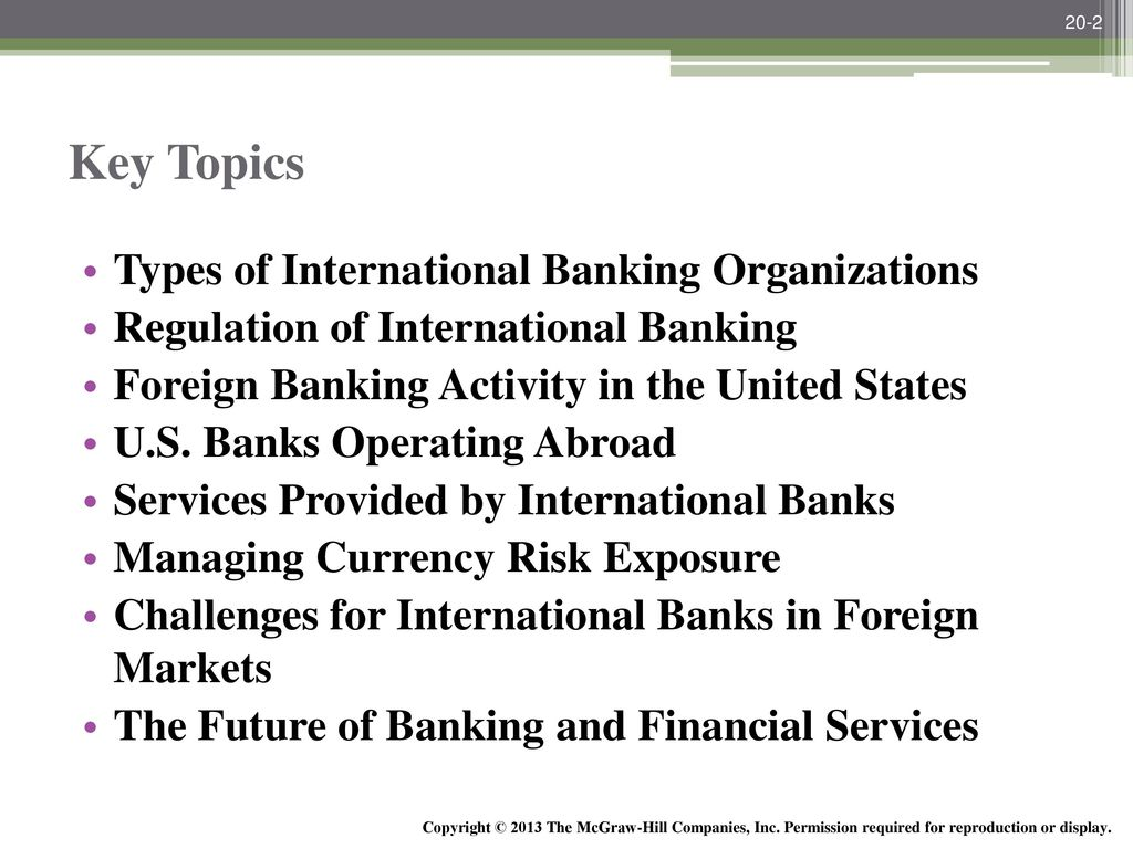 International Banking and the Future of Banking and
