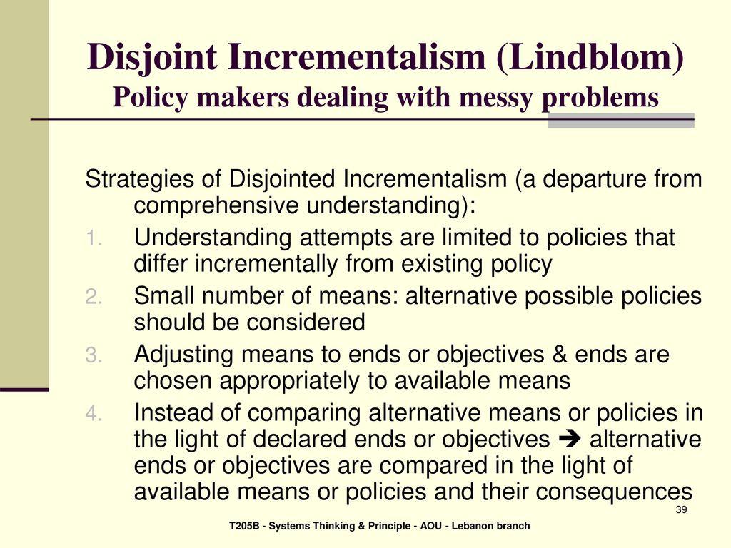 disjointed incrementalism