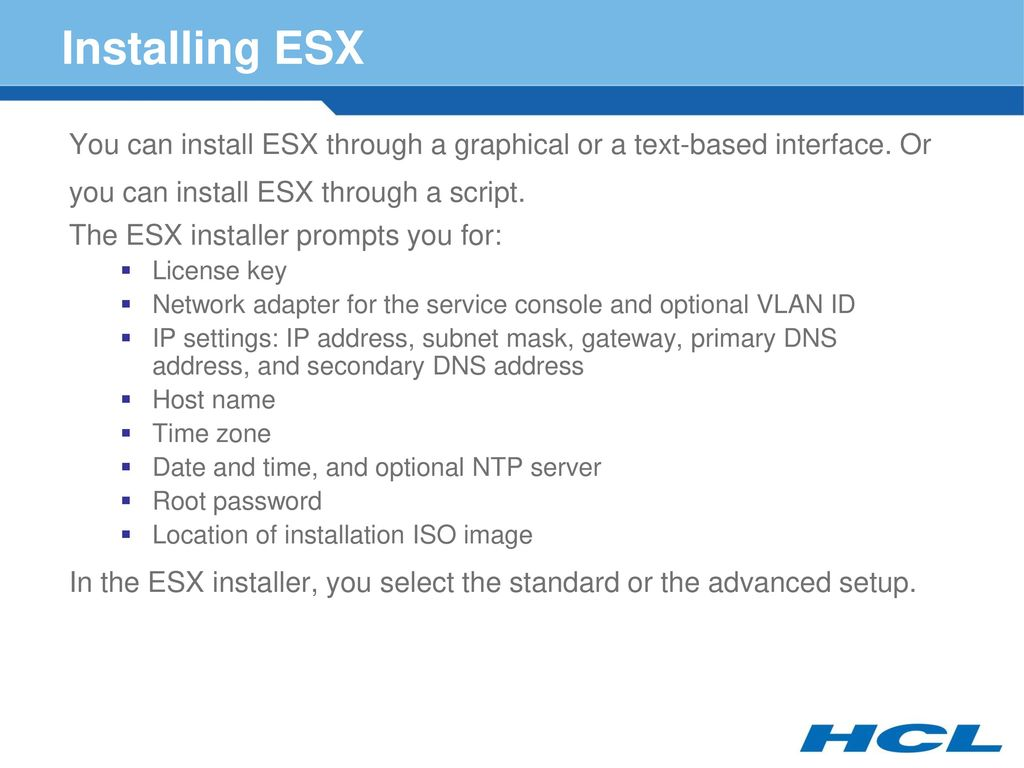 Installing VMware ESX and ESXi - ppt download