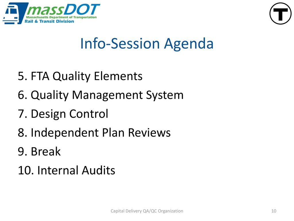 Capital Delivery QA/QC Organization