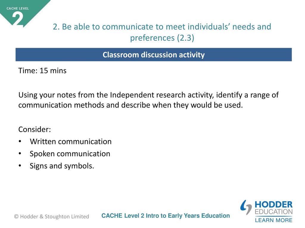 range of communication methods