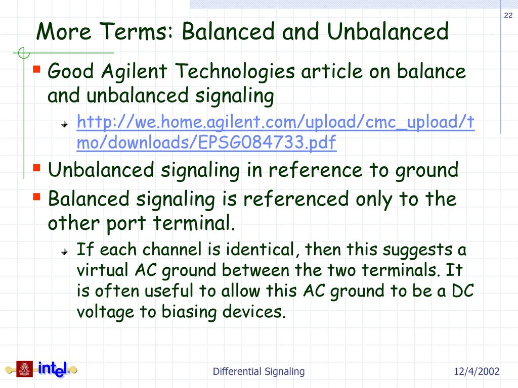 Differential signaling ppt download more terms balanced and unbalanced publicscrutiny Images