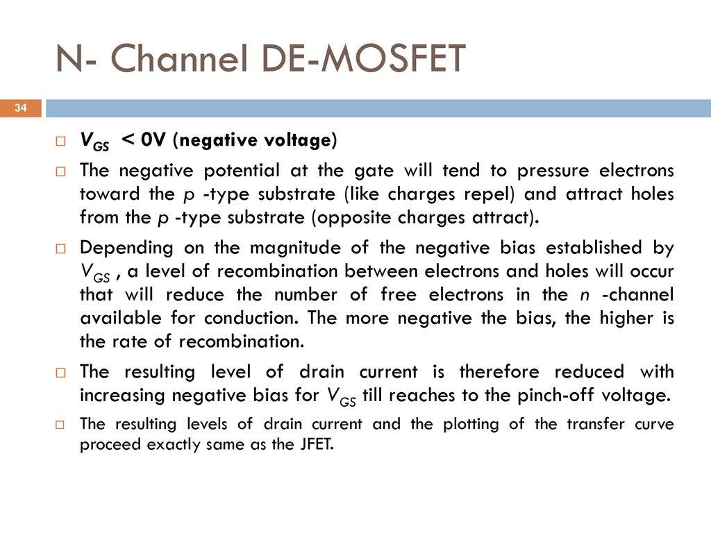 Analog And Digital Electronics Ppt Download Demosfet Depletion Enhancement Mosfet N Channel De Vgs 0v Negative Voltage