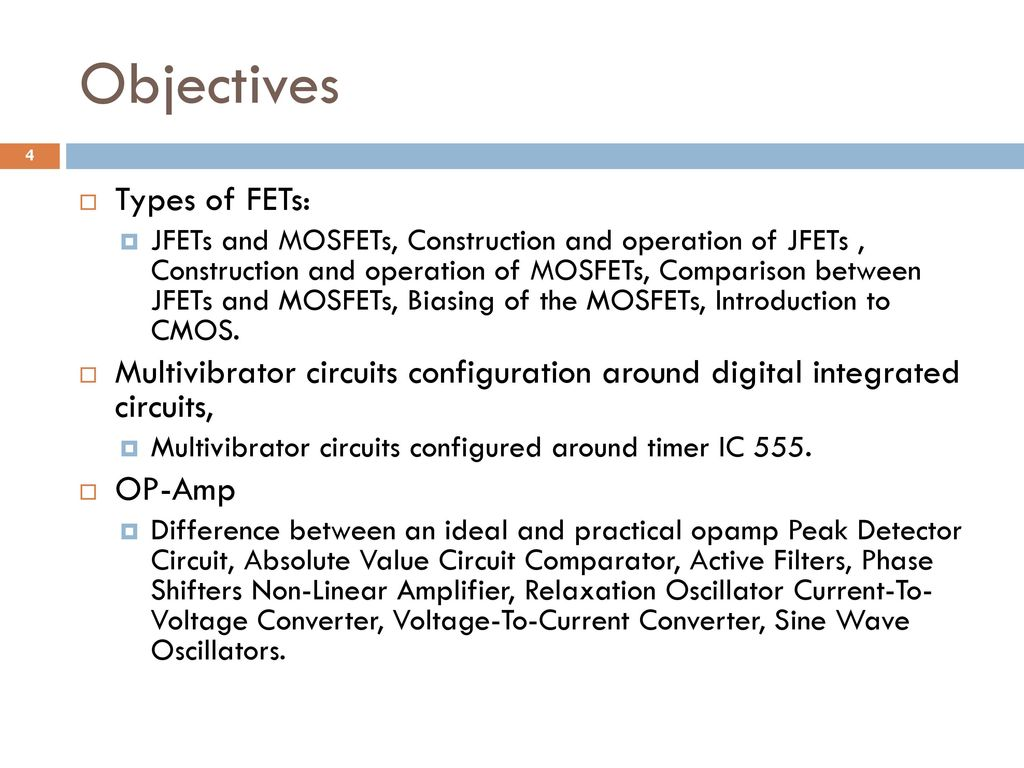Analog And Digital Electronics Ppt Download In Describing The Output States Of Any Multivibrator Circuit 4 Objectives
