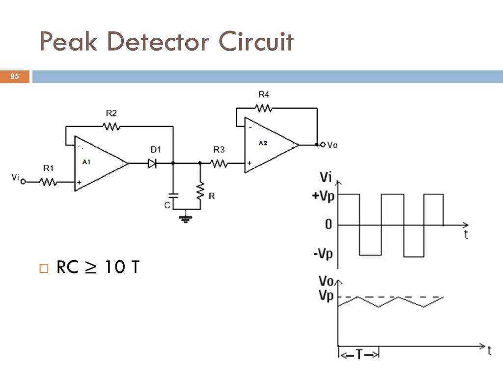 Analog And Digital Electronics Ppt Download Circuit Diagram Op Amp Peak Detector Pictures Operational Amplifier Application Circuits 85 Rc 10 T