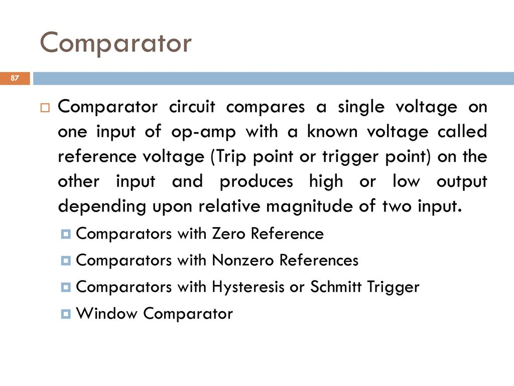 Analog And Digital Electronics Ppt Download Below This Circuit Creates A Noninverting Comparator With Hysteresis