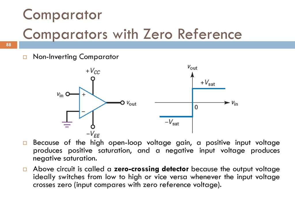 Analog And Digital Electronics Ppt Download Cell Phone Detector Circuit Diagram On Zero Crossing Comparator Comparators With Reference