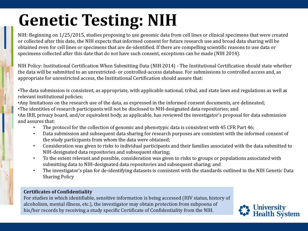 Genetic Research Research Compliance Ppt Download