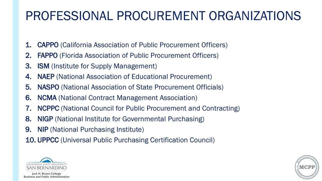 professionalizing public procurement: the role of higher education ...