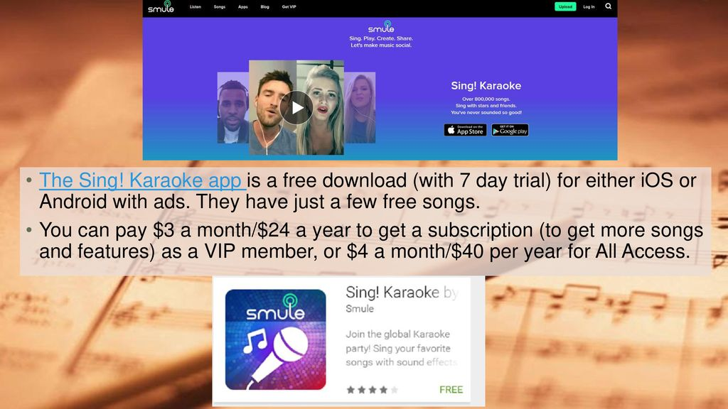 Sing! Karaoke By Suzanne Lanoue Mobile Apps - ppt download