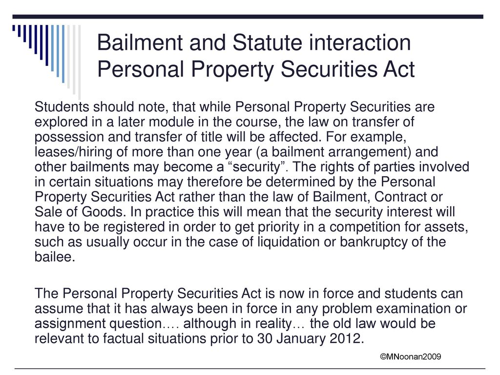 personal property bailment chapt 49 Property tax software - personal property pro automates your business personal property tax renditions for all counties in do you wish you could have the owner, property, and asset information roll forward year-to-year then this is your lucky day.