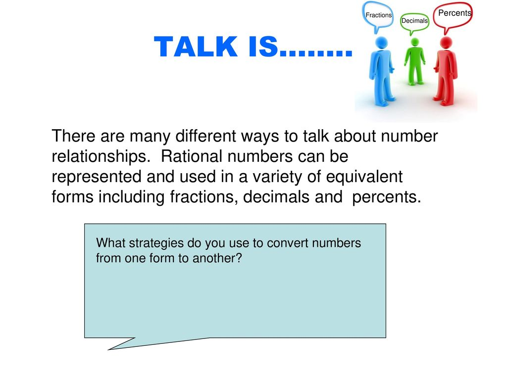 TALK IS: Fractions, Decimals and Percents - ppt download