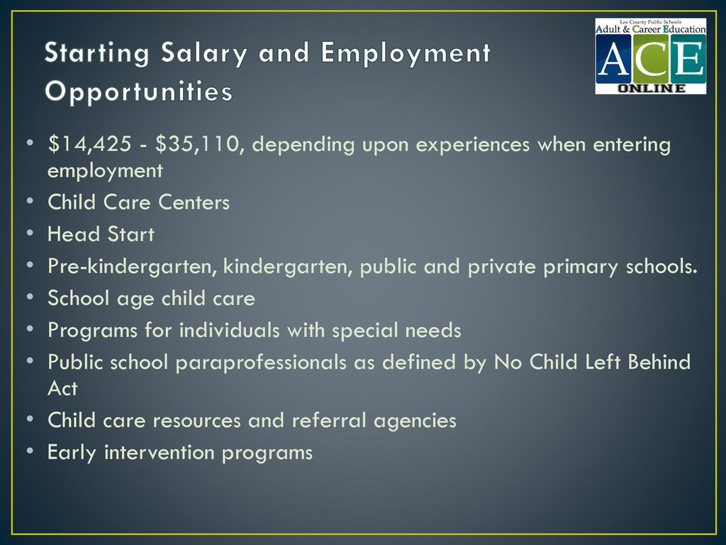 Starting Salary and Employment Opportunities
