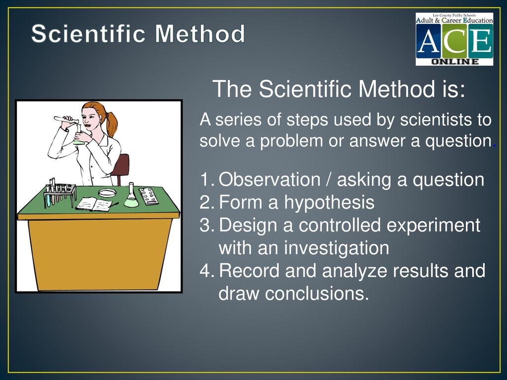 Scientific Method The Scientific Method is: