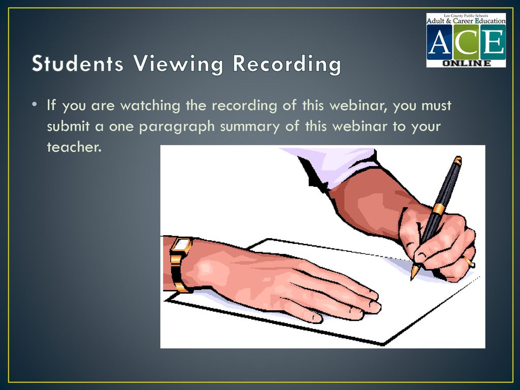 Students Viewing Recording