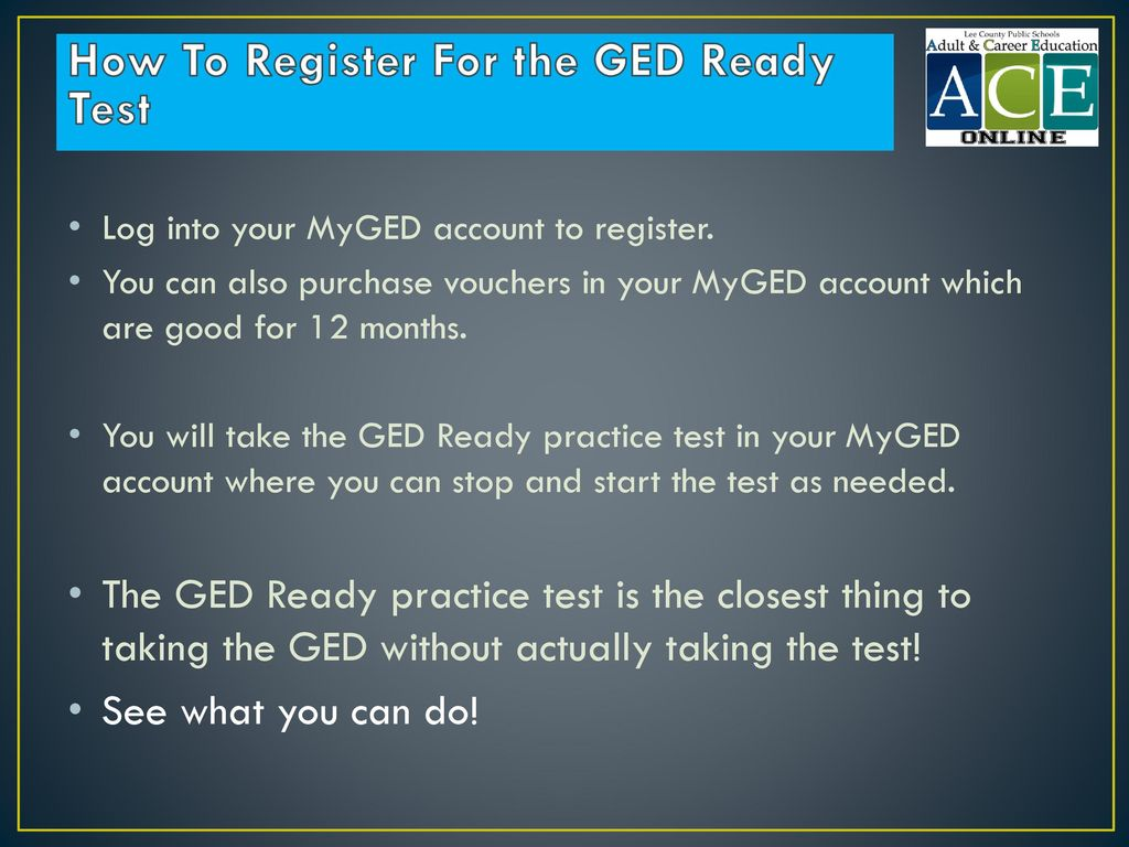 How To Register For the GED Ready Test
