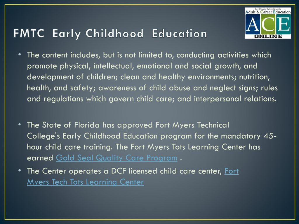 FMTC Early Childhood Education