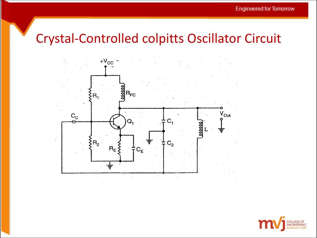 High Frequency Colpitts Crystal Oscillator Circuit Schematic Diagram