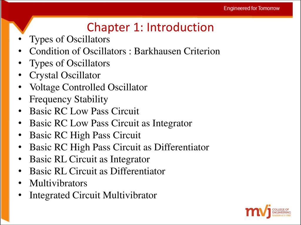 6sinosoidal Oscillators And Wave Shaping Circuits Ppt Download Figure 2 Analog Oscillator A Rc Astable Multivibrator B 3 Chapter