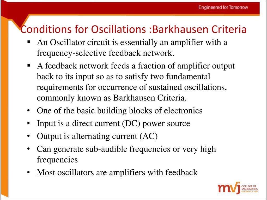 6sinosoidal Oscillators And Wave Shaping Circuits Ppt Download Astable Flipflop Multivibrator Circuit Oscillatorcircuit Signal 5 Conditions For Oscillations Barkhausen Criteria An Oscillator