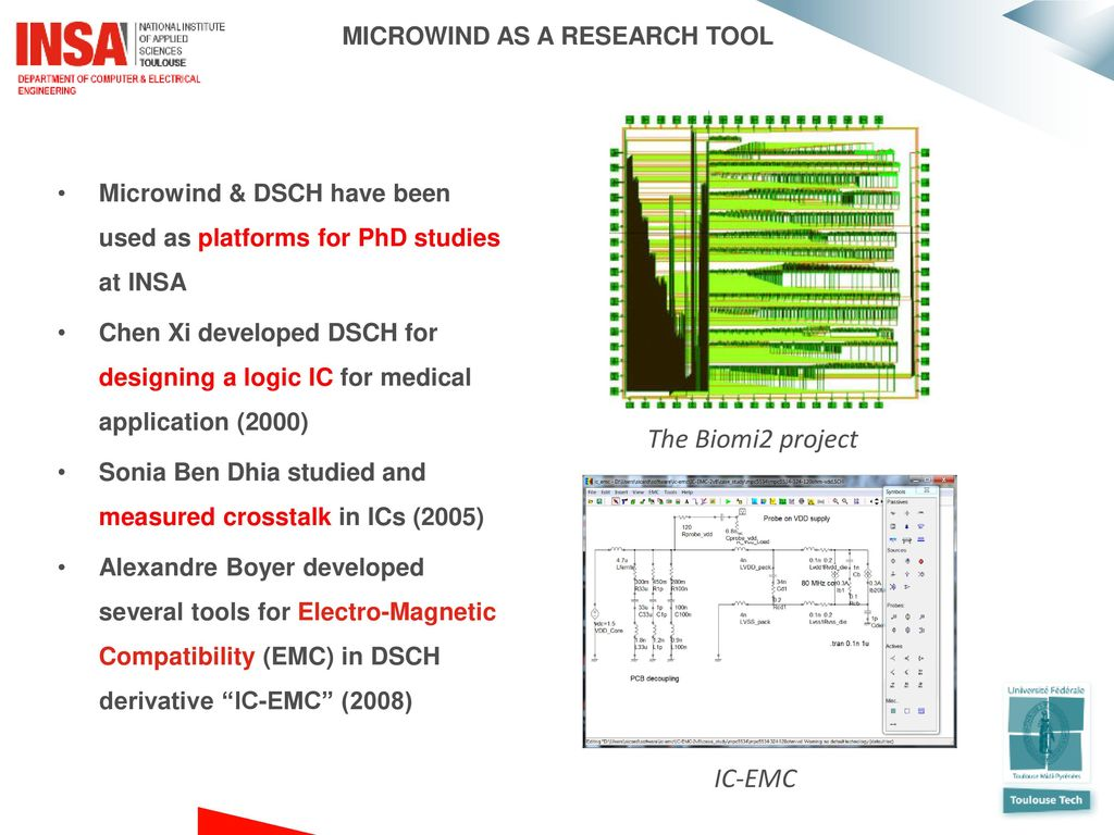 Future Trends In Nano Cmos Cell Design With Microwind Ppt Download Simulation Of The Circuit Biomi2 Project Ic Emc As A Research Tool
