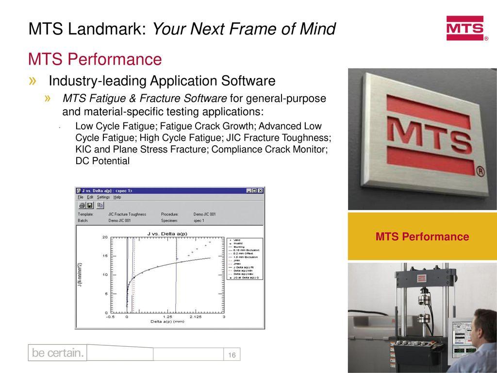 MTS Landmark™: Your Next Frame of Mind - ppt download