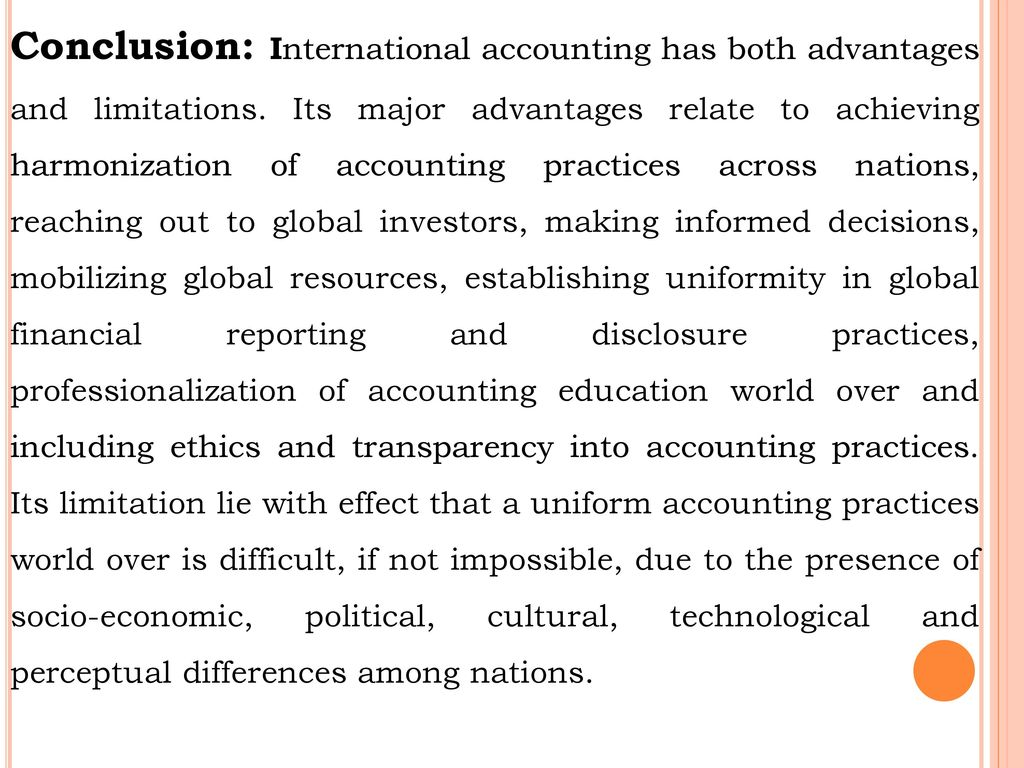 conclusion for ifrs assignment