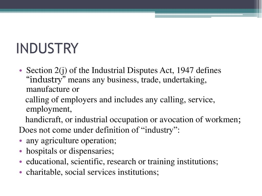 definition of industrial dispute act 1947