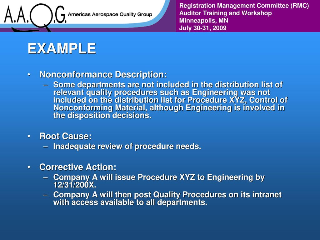 WELCOME! Value Added Aerospace Auditing - ppt download