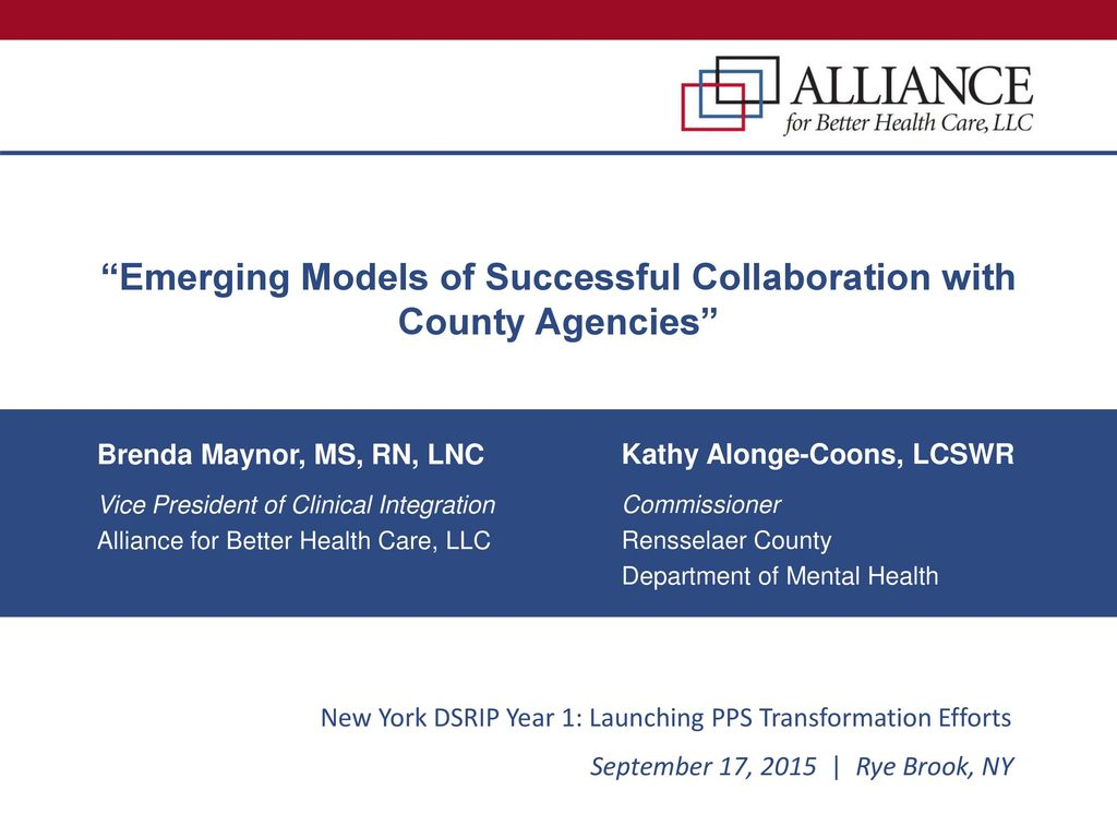 Emerging Models of Successful Collaboration with County