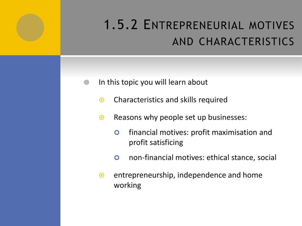 What are the characteristics and skills of a entrepreneur