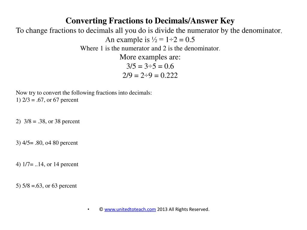 fractions, decimals, and percents - ppt download